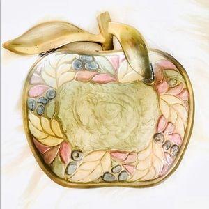 Vintage handcrafted brass trinket dish
